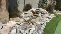Scottsdale AZ Disappearing Pondless Stream by The Pond Gnome